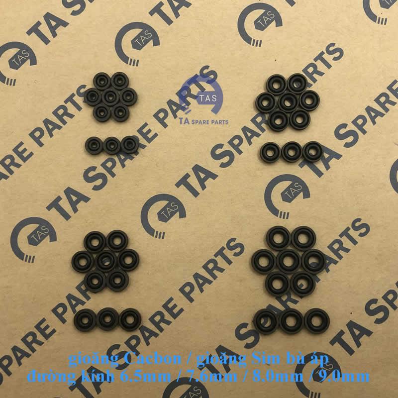 Gioăng Cacbon đường kính từ 6.5mm đến 13.0mm