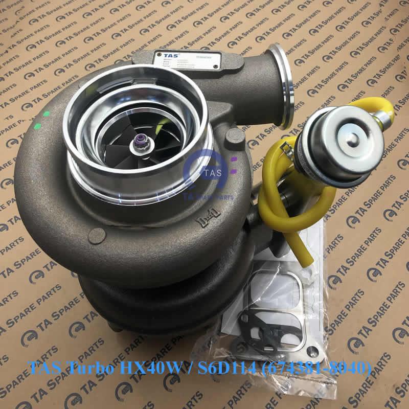 TAS Turbo tăng áp HX40W / S6D114 (674381-8040)
