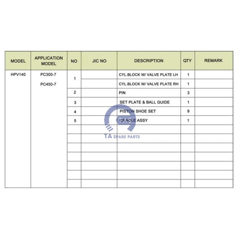 Ruột bơm JIC-PC300-6PC450