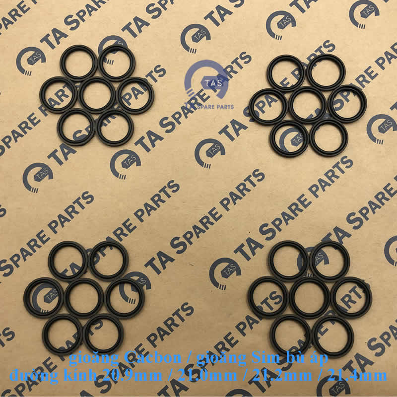 Gioăng Cacbon đường kính từ 20.9mm đến 31.0mm