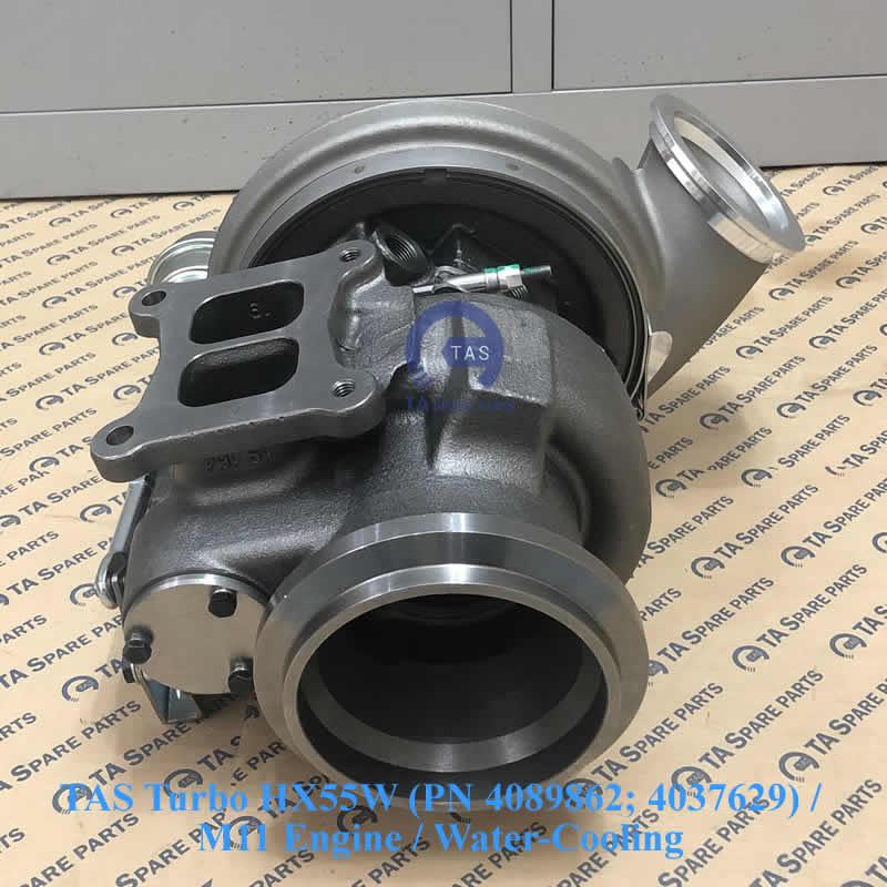TAS Turbo tăng áp HX55W (PN 4089862; 4037629) / M11 Engine / Water-Cooling